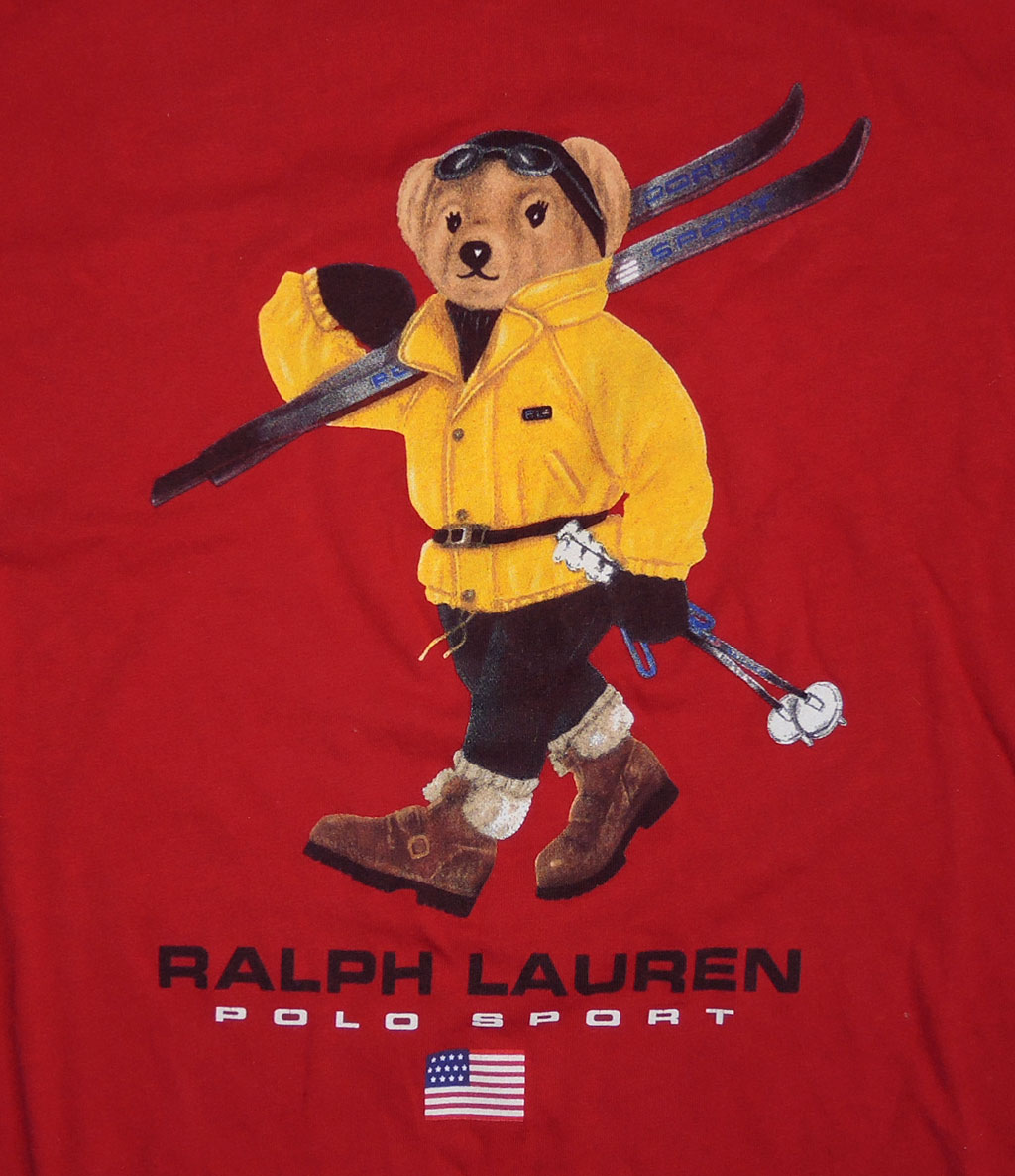 Vtg Ralph Lauren Polo Bear T Shirt Xxl Preppy Tie Carcoat Short